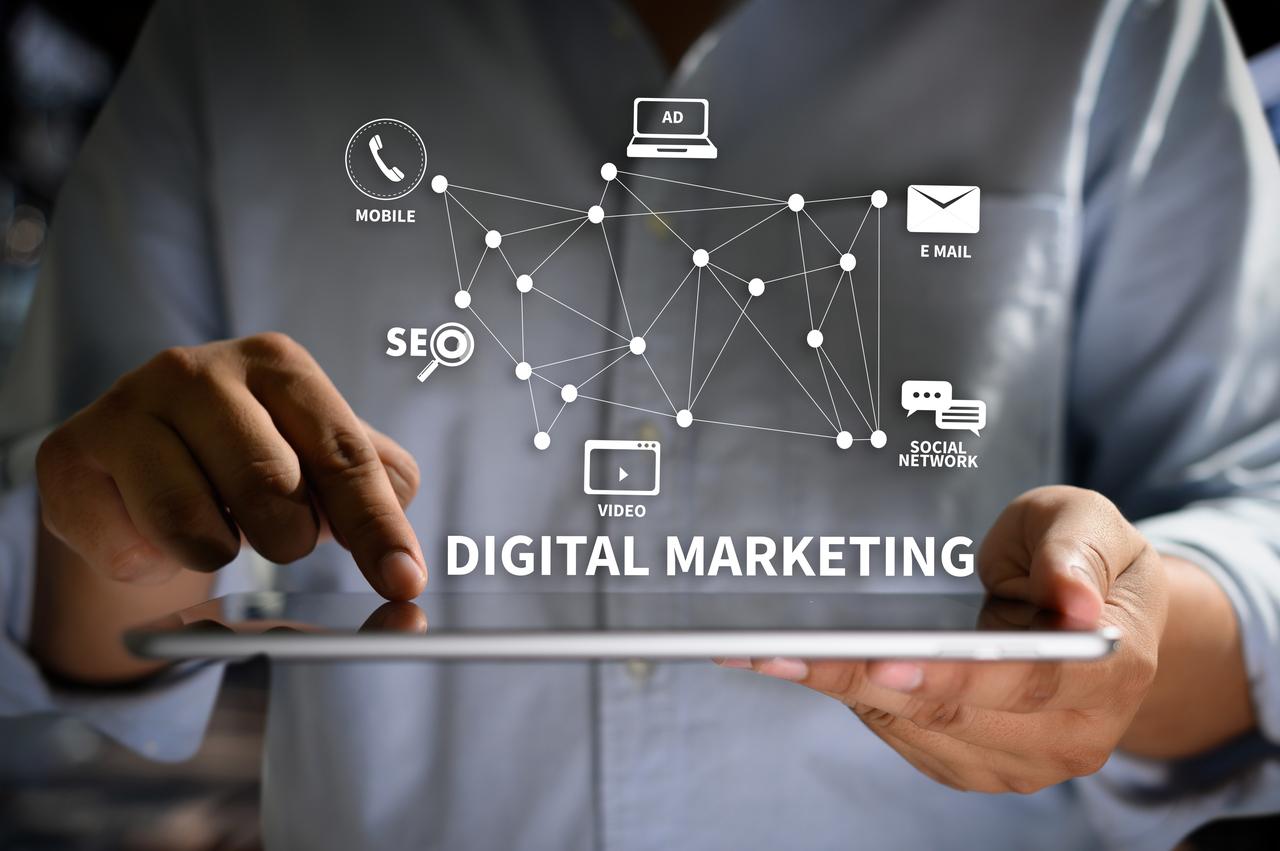 Graphics of digital marketing